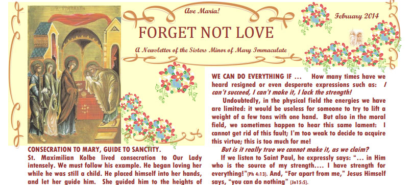 Forget Not Love February 2014